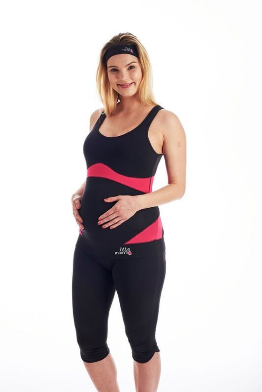 0b6d3a642b6 Fitta Mamma High Support Pregnancy Exercise Top- Limited edition maternity  work out top will support your baby bump